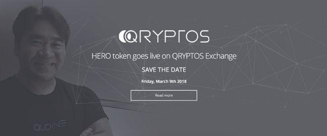 ICOのHERO(ヒーロー)はQRYPTOS取引所に上場決定