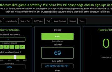 【DApps】イーサロール(Etheroll)はカジノの分散型アプリケーション