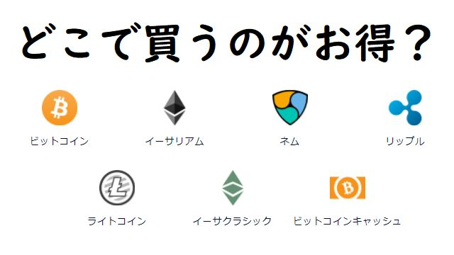通貨別のおすすめ仮想通貨取引所!どこで買うのがお得?